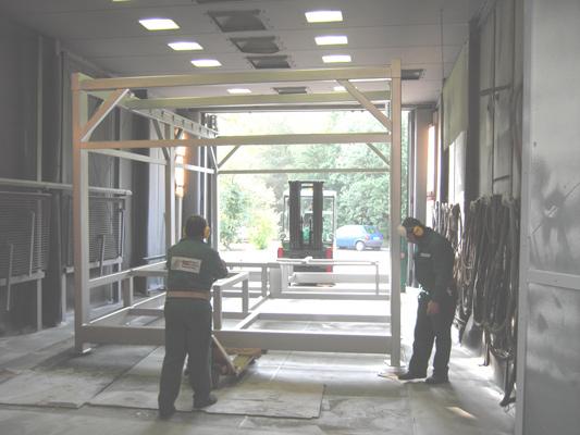 VA-Konstruktion vor dem Strahlen