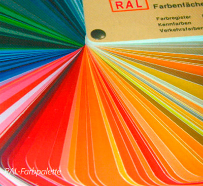 Alle RAL-Farbtöne möglich + Sonderfarben