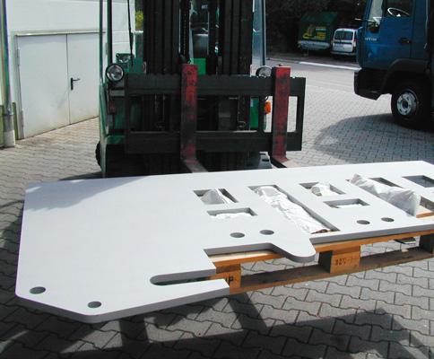 Stahlplatte nach dem Strahlen